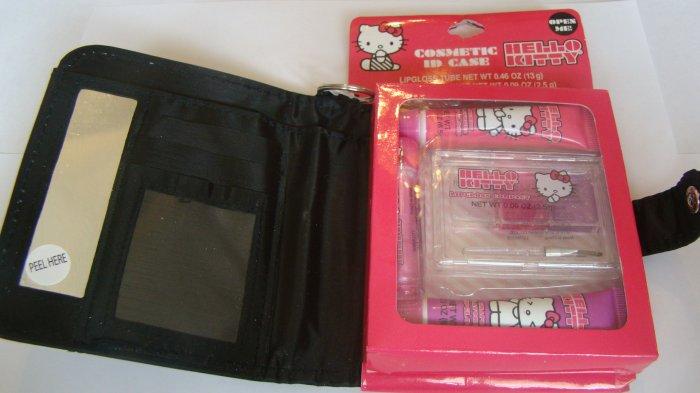Hello Kitty Black Cosmetic ID Case W/ Lip Gloss