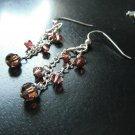 Rose colored Swarovski Crystal Dangles