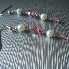 Pink Swarovski Crystal and Freshwater Pearls