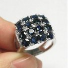 #RS2588 Natural Sapphire 18K Gold Plated Ring