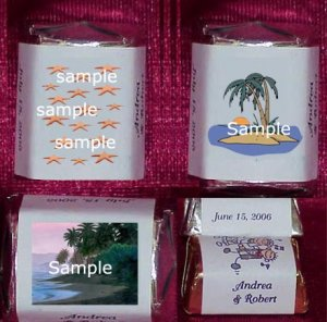 150 Wedding Bridal Shower Beach Ocean Themed Nugget Candy Wrappers