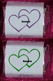150 Wedding Bridal Shower HEARTS Nugget Candy Wrappers