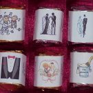 150 Wedding Bridal Shower Bride & Groom Themed Nugget Candy Wrappers