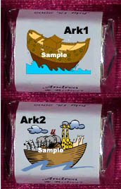 150 Baby Shower - NOAH'S ARK  THEMED Nugget Candy Wrappers Favors