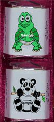 150 Baby Shower - ZOO JUNGLE ANIMALS THEMED Nugget Candy Wrappers Favors