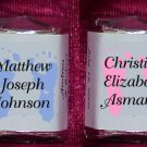 150 BABY ANNOUNCEMENT Candy Custom Wrappers Favors boy girl