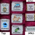 150 Birthday BUGS SPIDERS THEMED Candy Labels Wrappers Favors