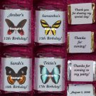 150 BIRTHDAY BUTTERFLIES THEMED Candy Wrappers Favors Butterfly