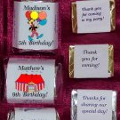 150 CIRCUS THEMED BIRTHDAY PARTY Custom CANDY Wrappers Favors