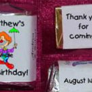 150 CLOWNS THEMED BIRTHDAY PARTY custom CANDY Wrappers