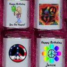 150 -1960's THEMED BIRTHDAY PARTY Custom Candy Wrappers Favors