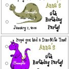DINOSAUR BIRTHDAY Party Lollipop suckers Favors Tags