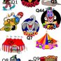 CIRCUS BIRTHDAY Party Lollipop suckers Favors Tags