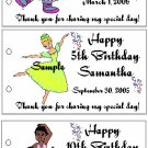 BALLERINA BIRTHDAY Party Lollipop suckers Favors Tags
