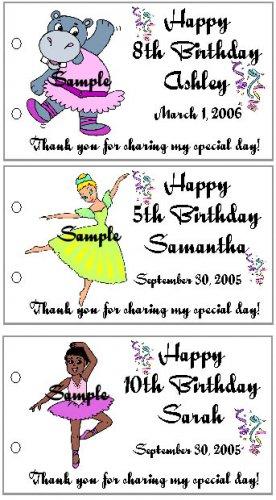 BALLERINA BIRTHDAY Party Lollipop suckers Favors Tags