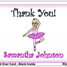 Kid BALLERINA Birthday Thank You Cards Notes Kids Girl