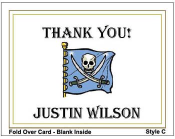 Kid PIRATE Birthday Thank You Cards Notes Kids