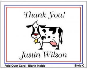 Kid FARM ANIMALS Birthday Thank You Cards Notes Kids