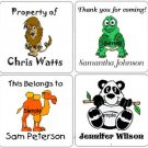 ZOO JUNGLE ANIMALS (self-stick) Gift Favor Tags