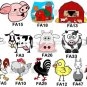 FARM ANIMALS (self-stick) Gift Favor Tags