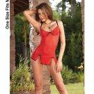 Red Floral Babydoll ***On Back Order***