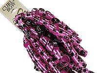 Pink Paw Print Ribbon Curly Bow
