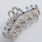 Hair Jaw Clip With Lt. Sapphire Crystal Accents