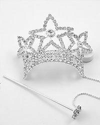 Silver (rhodium) Clear / Crystal Lead&nickel Free / Star / Hair Accessory
