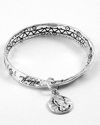 Antique Silvertone  Bracelet