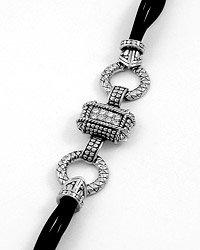 Silvertone& Clear Crystal Bracelet