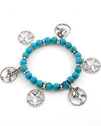 Silvertone / Turquoise Blue Bracelet