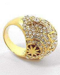 Star Design Cocktail Ring