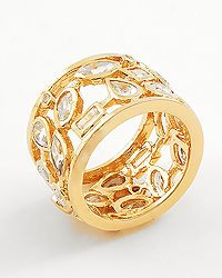 Gold Clear / Cubic Zirconia Metal