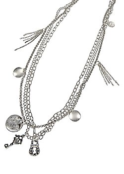 Three Row Silver Plated chains
