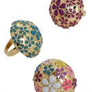 Floral Dome Ring