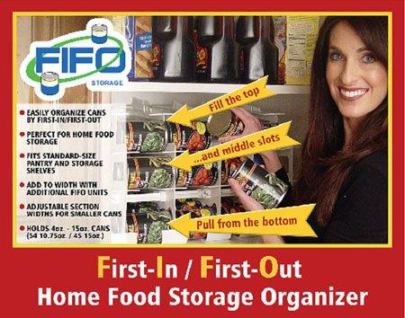 Fifo Storage Can Rack 4541