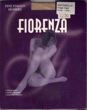 Fiorenza Thigh High Stockings Nude Italian Size Large