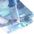 """21"""" SQUARE BLUE """"WATER"""" PRINT CREPE SCARF"""