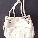 PEARLIZED WHITE TOTE PURSE GOLF BALL BAG