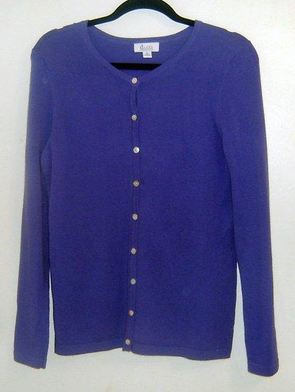 PERIWINKLE BLUE Lone Fine Knit Cardigan xs