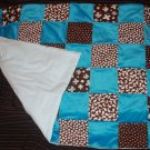 Blue and Brown Minky Quilt