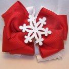 Boutique Snowflake Christmas Hair Bow