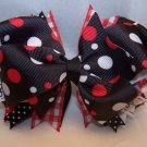 Boutique Red, White, and Black Hair Bow