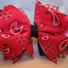 Boutique Red Bandana Hair Bow