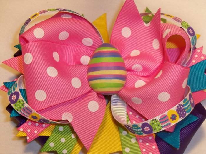 Boutique Spring/Easter Hair Bow