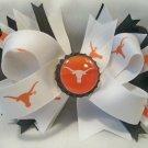 Boutique University of Texas Longhorns (UT) Bottle Cap Hair Bow