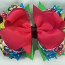 Boutique Peace-Sign Hair Bow