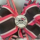 Boutique Pink Punk Rocker Skull Hair Bow