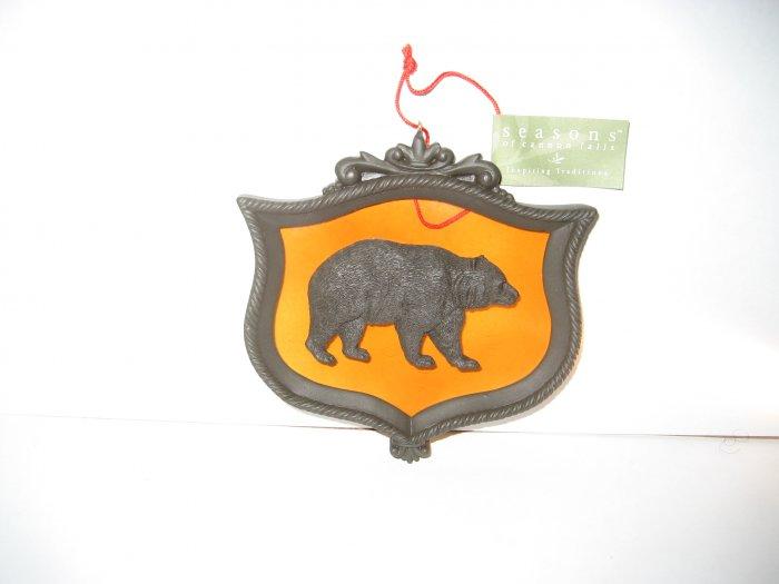 Bear Christmas Ornament - Glass & Metal - Seasons of Cannon Falls