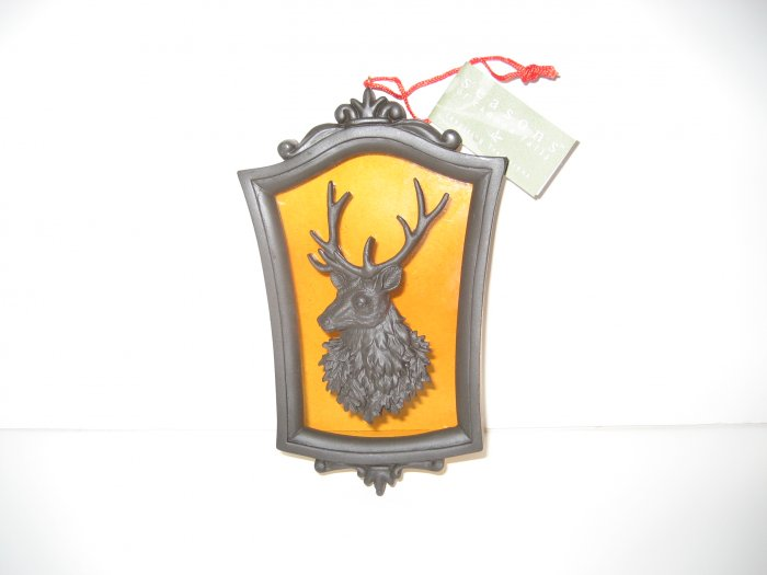 Deer Christmas Ornament - Glass & Metal - Seasons of Cannon Falls